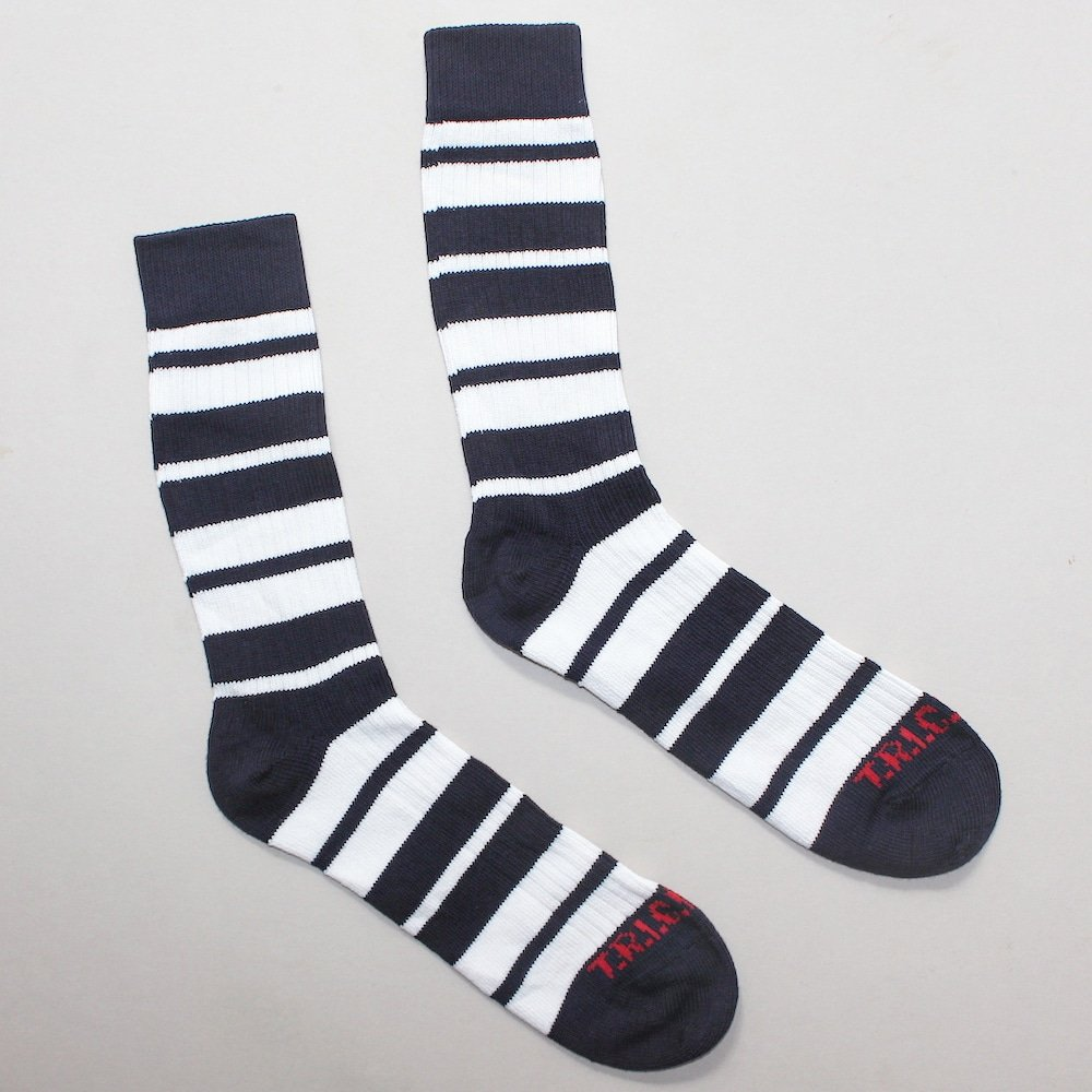 Socks With Attitude – Navy/White